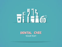 Background with dental care symbols Stock Photo