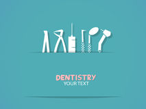 Background with dentistry tools Stock Image