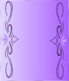 Background Design. Purple gradient background with design on left and right side Royalty Free Stock Images