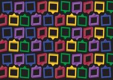 Background design. Consist of multicolored squares. Vector illustration Stock Photo