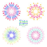Background design with abstract fireworks and salute. Art Stock Images