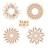 Background design with abstract fireworks and salute. Stock Photos