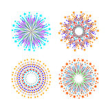 Background design with abstract fireworks and salute. Royalty Free Stock Photos