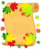 Background for a design with the autumn leaves of maple Royalty Free Stock Images