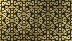 Islamic decorative pattern with golden artistic texture. stock image