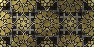 Islamic decorative pattern with golden artistic texture. royalty free stock image