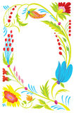 Background. Design of a beautiful flower pattern. Stock Image