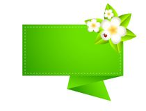 Background for a design with beautiful flowers Stock Photography