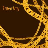 Background design with beautiful jewelry gold Royalty Free Stock Image