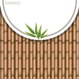Background design with brown bamboo sticks. Illustration Royalty Free Stock Photos