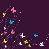 Background design with butterfly. Stock Photography