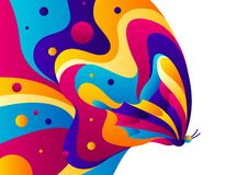 Background design with butterfly. Colorful bright abstract insect vector illustration