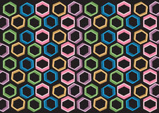 Background design consist of multicolored shapes Royalty Free Stock Image