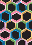 Background design consist of multicolored shapes Stock Photography