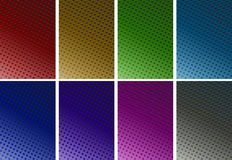 Background design with dots in six colors Royalty Free Stock Photography