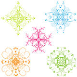 Background design elements. Assorted Background floral / flourish design elements Stock Images