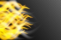 Background design with fire and smoke. Illustration Stock Photography
