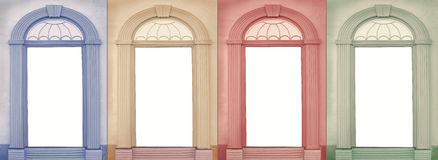 Background design four seasons Royalty Free Stock Images