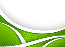 Background design with green curve lines. Illustration Royalty Free Stock Images