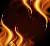 Background design with hot flames on black background Stock Photo