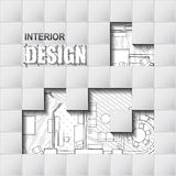 Background for design of interiors Stock Image