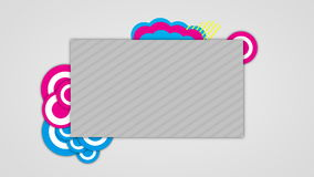 Background design isolated blank page stock footage