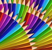 Background design with lots of color pencils. Illustration vector illustration