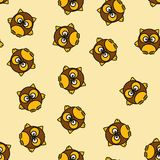 Background design owl pattern. Modern art for wallpaper, interior or textile fabric. Funny decoration character Royalty Free Stock Photos