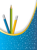Background design with pencils Stock Images