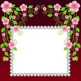 Background for a design with pink flowers Royalty Free Stock Photos