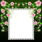 Background for a design with pink flowers Stock Image