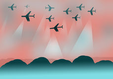 Background design with planes Royalty Free Stock Photos