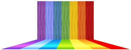 Background design with rainbow floor. Illustration Stock Image