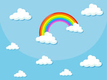 Background design with rainbow in the sky Royalty Free Stock Photography