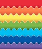 Background design with rainbow wavy lines Stock Image