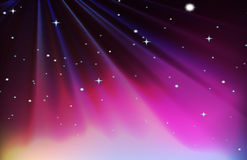 Background design with red and purple sky Stock Photos