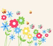 Background for design with spring flowers.  Royalty Free Stock Image