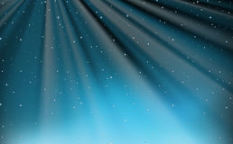 Background design with stars and blue light Royalty Free Stock Photos
