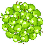 Background design with stylized fresh ripe apples Royalty Free Stock Photography