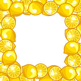 Background design with stylized fresh ripe lemons Royalty Free Stock Photography