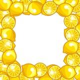 Background design with stylized fresh ripe lemons Royalty Free Stock Photography