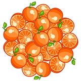 Background design with stylized fresh ripe oranges Royalty Free Stock Photos