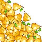 Background design with stylized fresh ripe pears Stock Photos