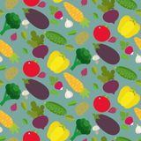 Background design with stylized vegetables. Healthy food and dieting concept. Icons for farm fresh products, locally grown and organic food Royalty Free Stock Images