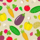 Background design with stylized vegetables. Royalty Free Stock Image