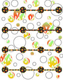 Background design and textile pattern. Can be used by many companies Royalty Free Stock Images