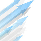 Background design with transparent blue arrows Royalty Free Stock Images