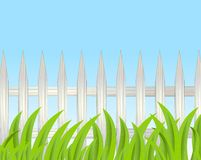 Background for a design with a wooden fence Royalty Free Stock Photos