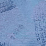 Background of detail of blue acrylic painting. Abstract blue acrylic hand paint background. Part of oil painting with brush strokes. Background of detail of Royalty Free Stock Image