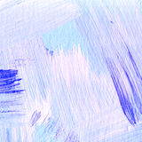 Background of detail of blue acrylic painting. Royalty Free Stock Image